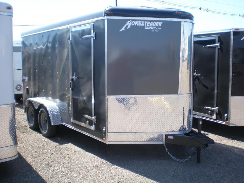 2019 Homesteader 7x14 Enclosed Cargo V Nose Trailer w/Ramp