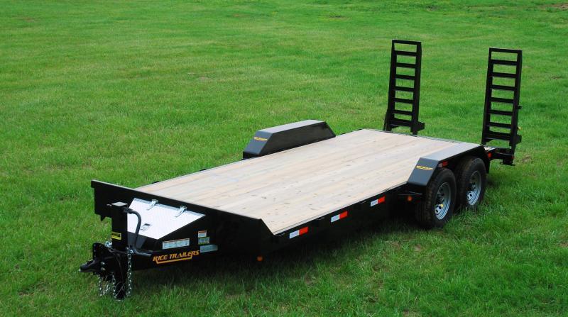 2018 rice 82x16 flatbed equipment trailer 14k
