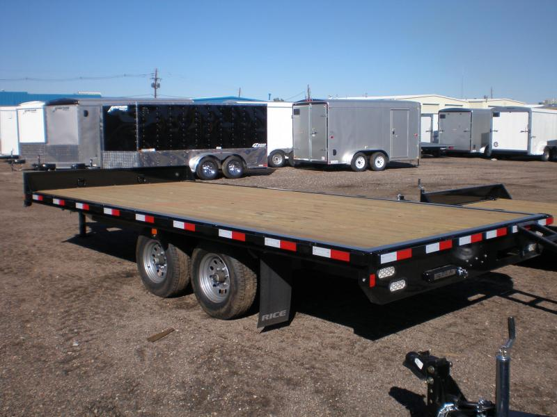 2019 Rice 18' Deckover Flatbed Trailer 10K
