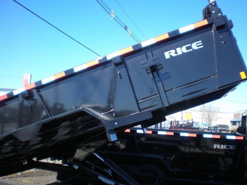 2018 Rice 7X14 Gooseneck Dump Trailer 14K