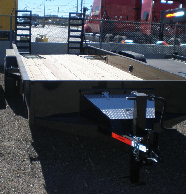 2017 Rice 20' Flatbed Equipment Trailer 14K