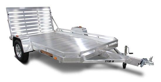 """Aluma 77"""" x 10' Heavy Axle Aluminum Trailer"""