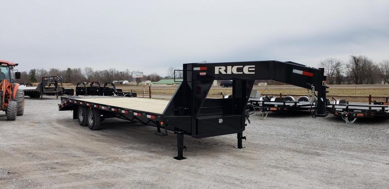 """2019 Rice 102""""X25' Gooseneck Trailer"""