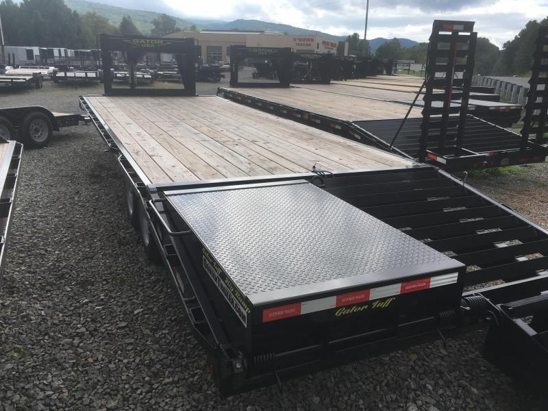 2019 Gatormade Trailers 25ft 20K Gooseneck big ramps Equipment Trailer