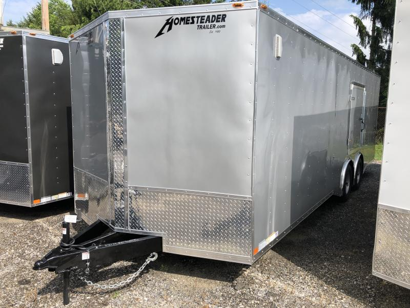 2020 Homesteader 8.5x24 Intrepid 5 ton spread axle escape door car hauler Enclosed Cargo Trailer