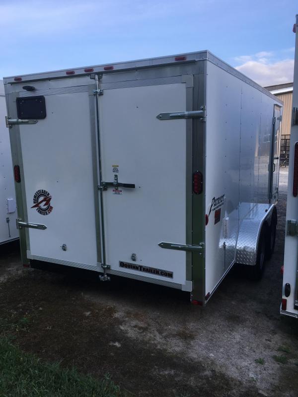 2019 Homesteader Intrepid 7x16 tandem axle double door Enclosed Cargo Trailer