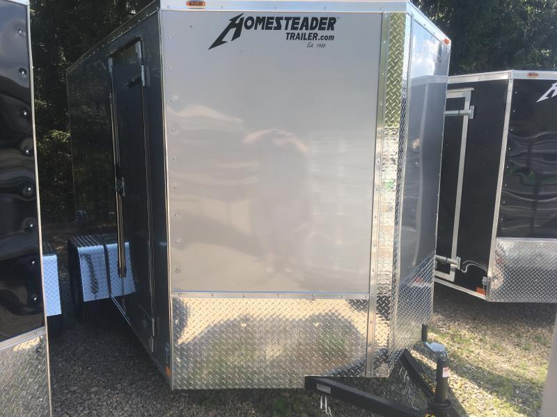 2020 Homesteader 7x12 Intrepid single axle 6in extra ht sd ramp door Enclosed Cargo Trailer