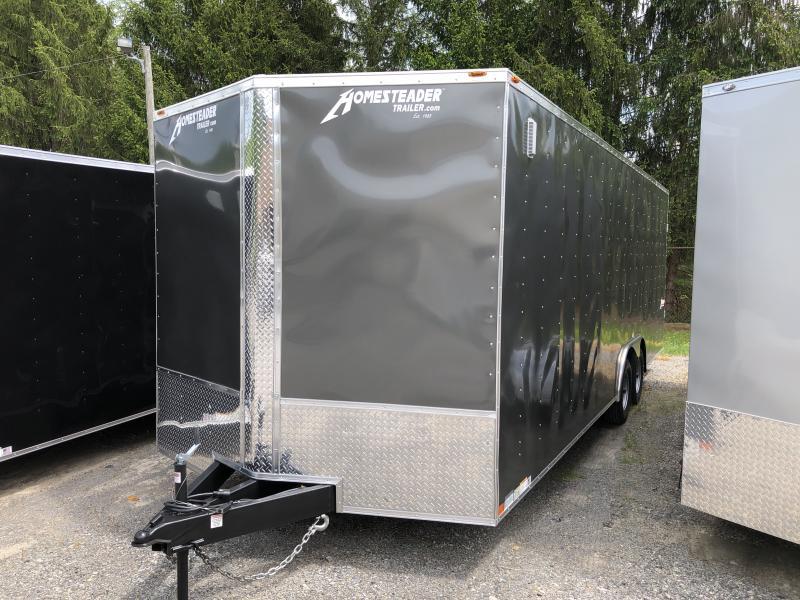 2019 Homesteader 824it intrepid 5 ton 7'tall w/wide ramp car hauler Enclosed Cargo Trailer