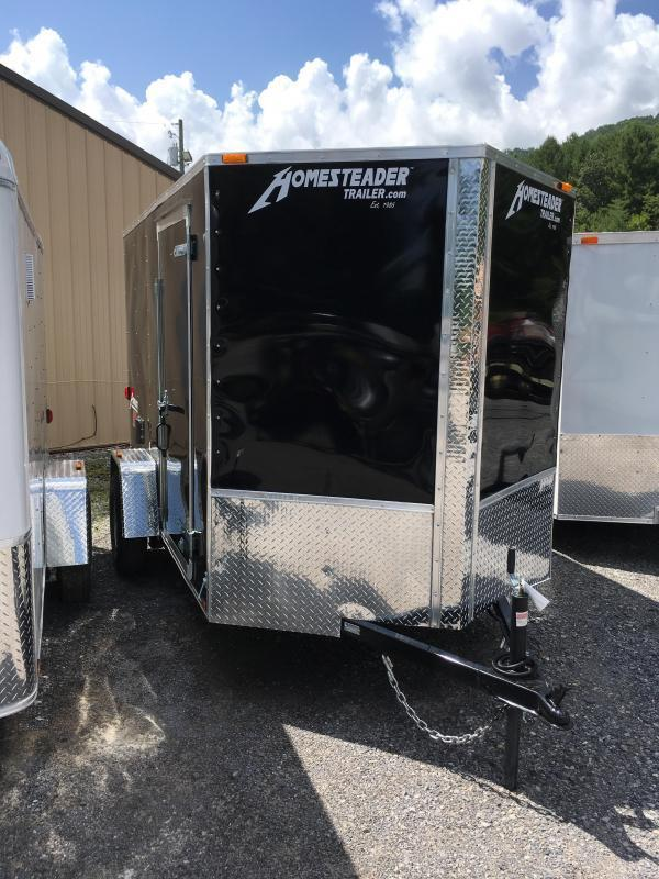 2018 Homesteader Inc. 6x10 patriot ramp single axle Enclosed Cargo Trailer