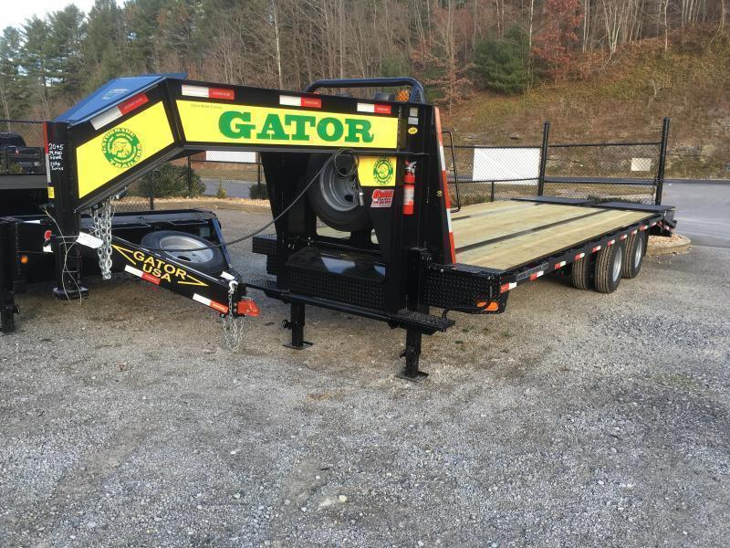 2019 Gatormade Trailers 25 tandem dual ELITE SERIES gooseneck Equipment Trailer