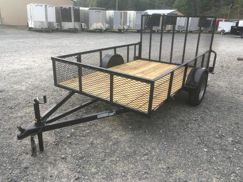 2018 Other (Not Listed) 76x10 2ft mesh side single axle Utility Trailer