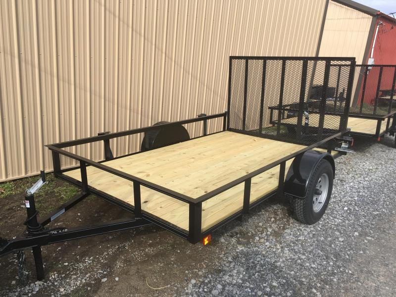2018 Other (Not Listed) 76x10 gate single axle Utility Trailer
