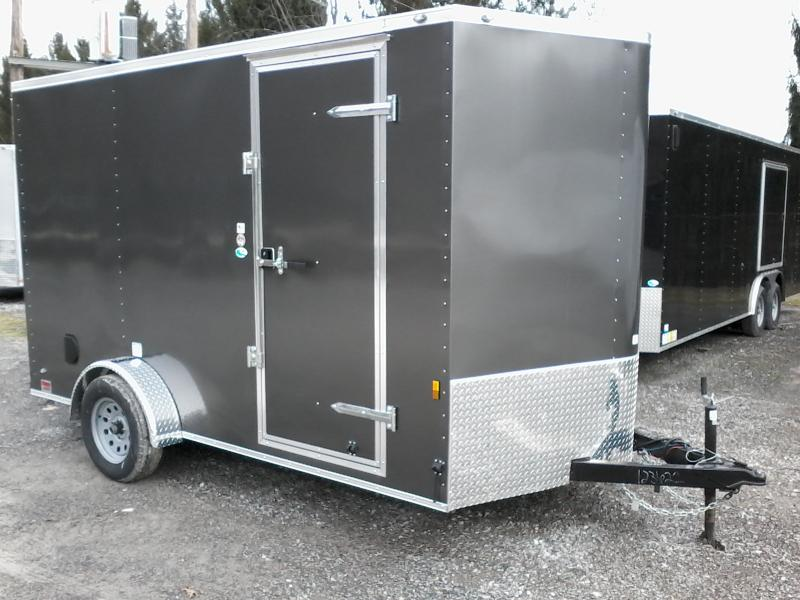 2019 Continental Cargo 7x12 V-Nose 6' EXTRA HT ramp door single axle with brakes