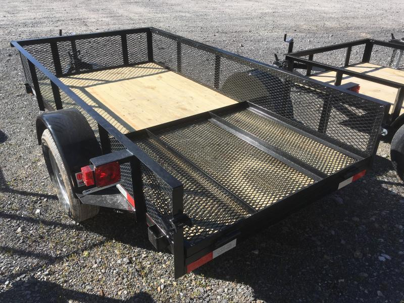 "2018 Quality Trailers 5x10 18""mesh sides single axle w/gate Utility Trailer"