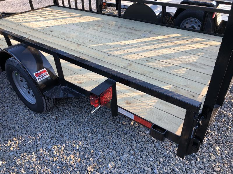 2019 Quality Trailers 82x14 PRO Series side load ramps single axle w/gate Utility Trailer