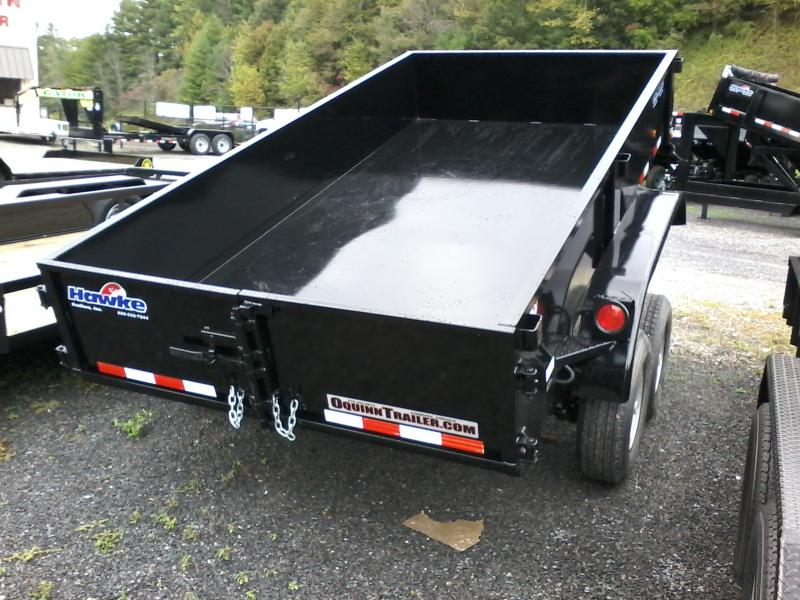 2019 Hawke Trailers 6X12 5TON Cardinal Low Profile Barn Doors Dump Trailer