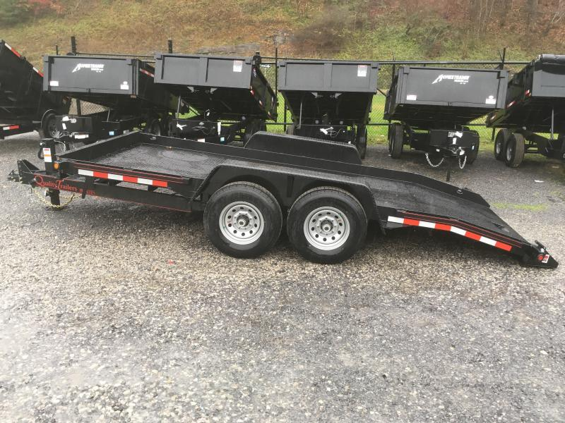 2019 Quality Trailers 15k 16ft Pro Series Skid Steer Tilt Equipment Trailer
