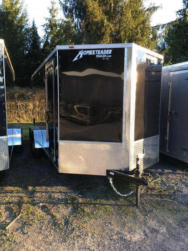 2019 Homesteader 7x16 Intrepid 6in extra ht 6.5 tall inside Enclosed Cargo Trailer