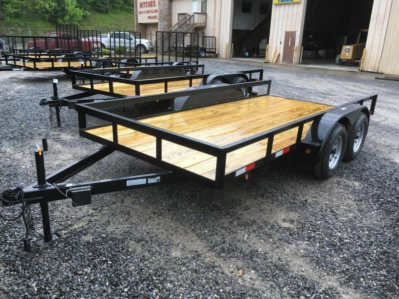 2018 Other 76x14 tandem utility no gate with brake Utility Trailer