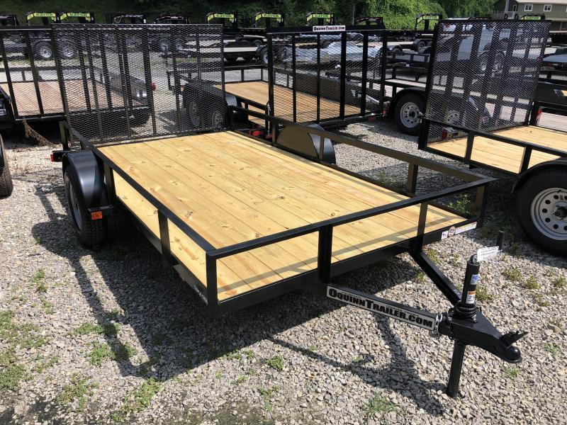 2019 Triple Crown 76x12 single axle w/gate Utility Trailer