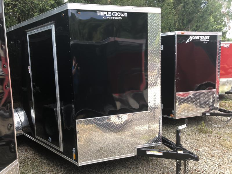 2019 Triple Crown 7x12 Intrepid single axle sd ramp Enclosed Cargo Trailer