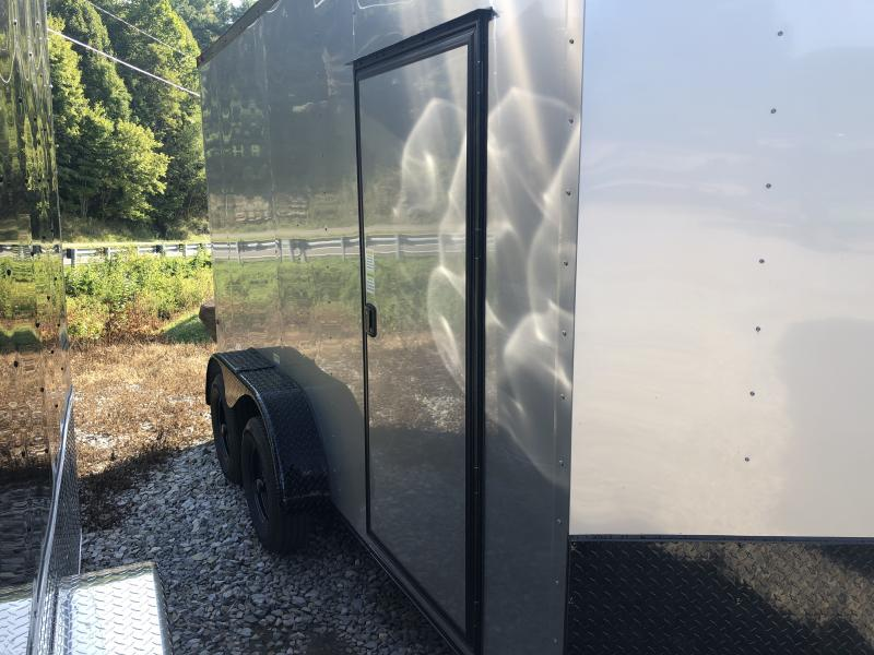 2020 Cynergy 7x14 vnose sd ramp 7'tall blackout Enclosed Cargo Trailer