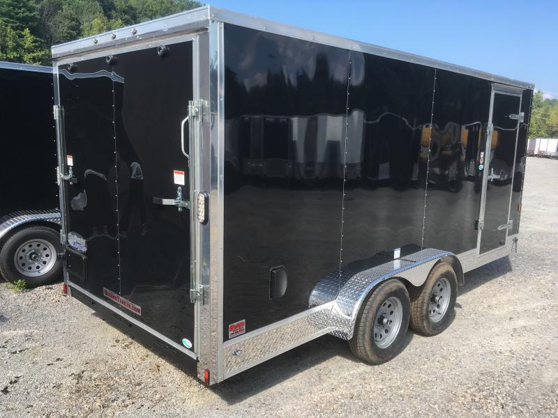 2019 Continental Cargo 7x16 vnose sd ramp door w/appearance pkg Enclosed Cargo Trailer
