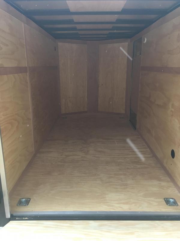2019 Continental Cargo 6x12 V-Nose Side Door Ramp Door Enclosed Cargo Trailer