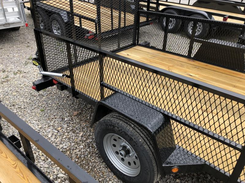 2019 Gatormade Trailers 76x12 gate 2' mesh sides single axle Utility Trailer