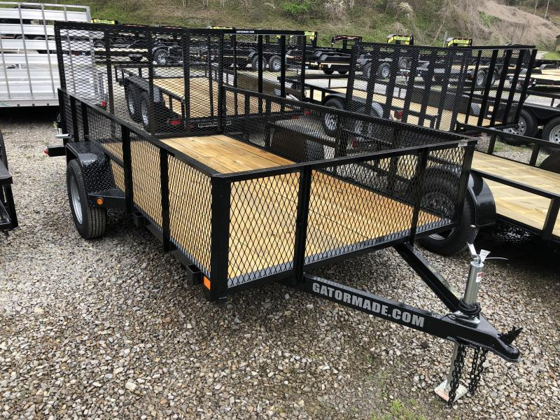 2019 Gatormade Trailers 76x12 gate 2' mesh sides single axle Utility Trailer