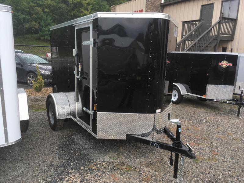 2018 Continental Cargo 5X8 V-nose Ramp Door Side Door Enclosed Cargo Trailer