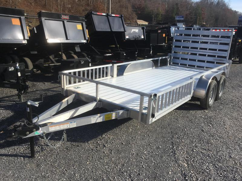 2020 Forest River 78x16 all aluminum w/side ramps Utility Trailer