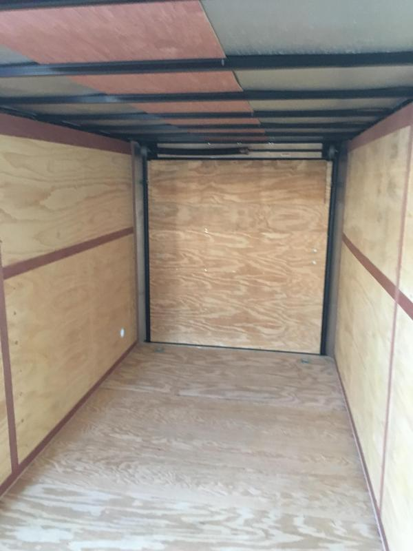 "2019 Continental Cargo 7x16 vnose 6"" extra ht. sd ramp door Enclosed Cargo Trailer"