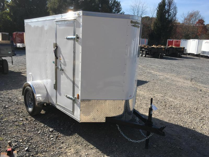 2019 Continental Cargo 5X8 V-nose Ramp Door Side Door Enclosed Cargo Trailer