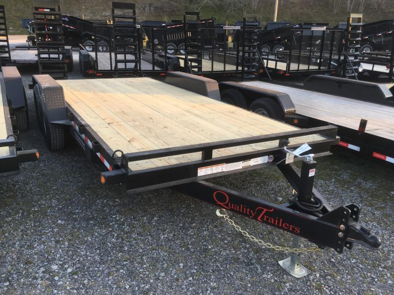 2018 Quality Trailers 82x18 7ton bumper pull Equipment Trailer