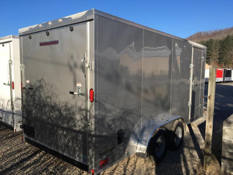 "2018 Continental Cargo 7x16 vnose 6"" extra ht. sd ramp door Enclosed Cargo Trailer"