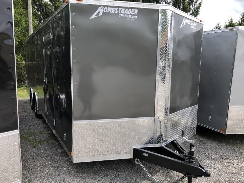 2019 Homesteader 8.5x24 Intrepid 5 ton spread axle escape door car hauler Enclosed Cargo Trailer