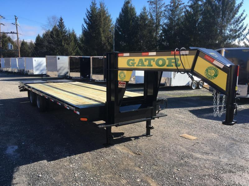 2019 Gatormade Trailers 25 tandem dual gooseneck with big Goliath ramps Equipment Trailer