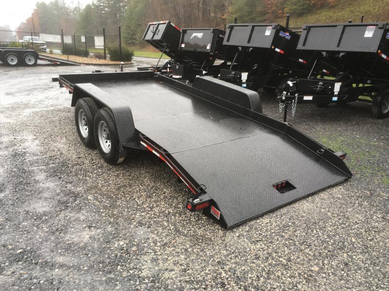 2019 Quality Trailers 15k 16ft Pro Series Skid Steer Tilt Equipment Trailer