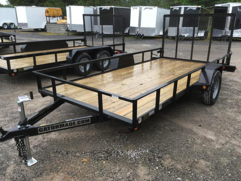 2019 Gatormade Trailers 76x14 single axle gate Utility Trailer