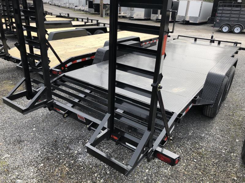 2019 Quality Trailers 82x20 7ton steel floor w/toolbox bumper pull Equipment Trailer