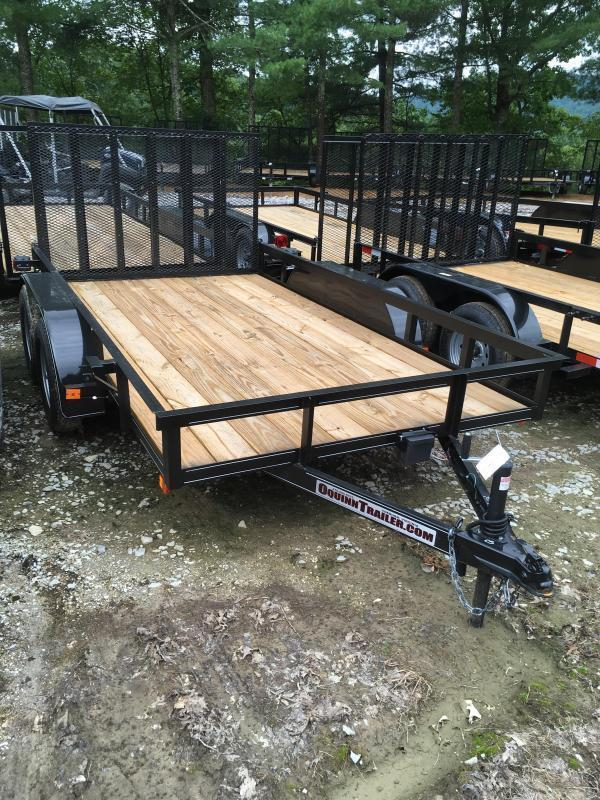 2018 Other (Not Listed) 76X12 gate brake tandem Utility Trailer