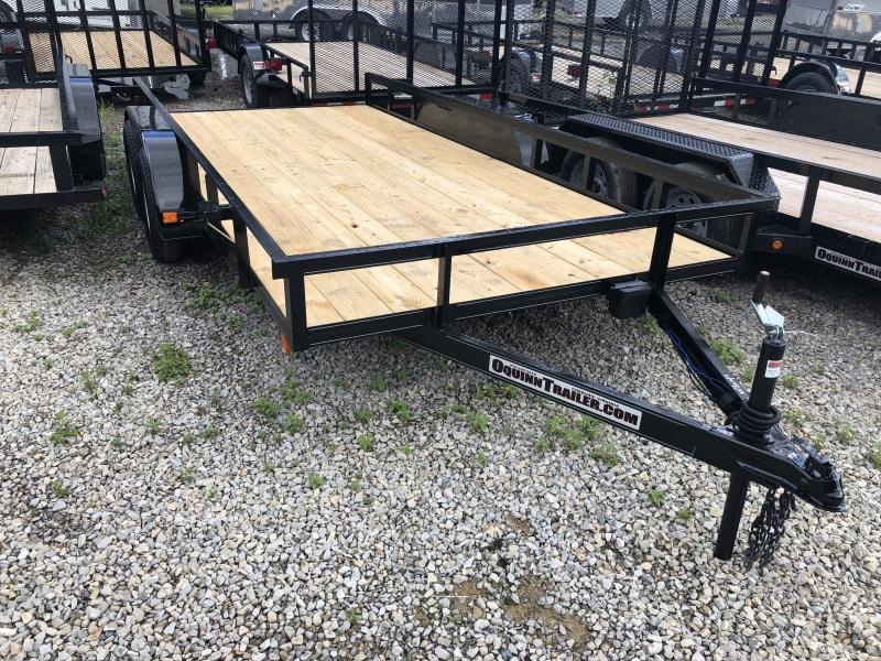 2019 82x16 tandem utility with brakes and no gate w/slide under ramps utility