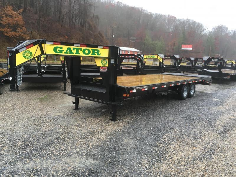 2019 Gatormade Trailers 25ft 8Ton Gooseneck big goliath ramps Equipment Trailer