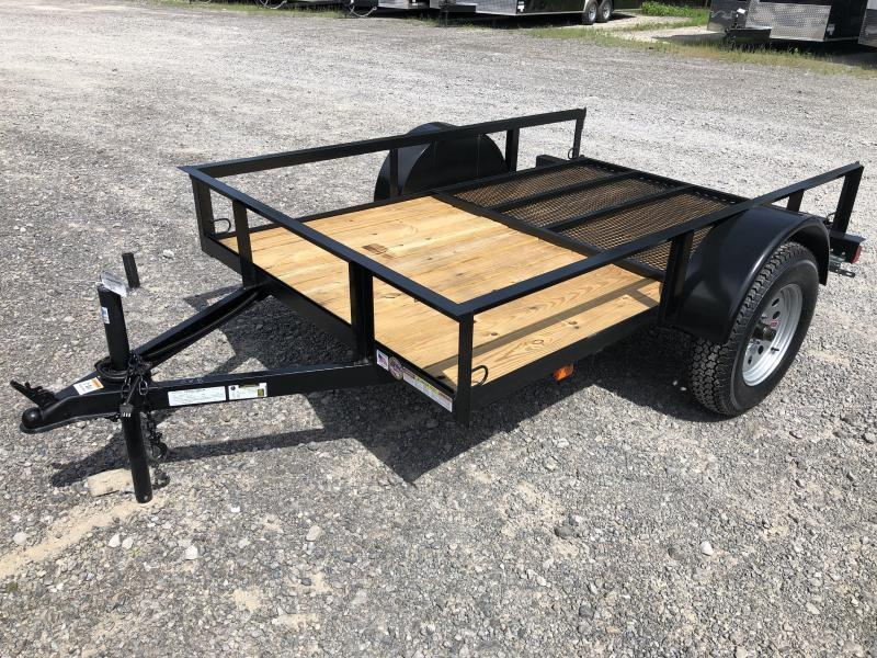 2019 Triple Crown 5x8 single axle w/gate Utility Trailer