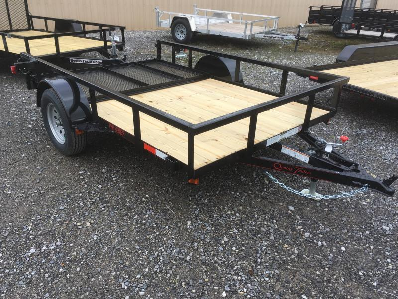 2019 Quality Trailers 77x10 PRO SERIES single axle w/gate Utility Trailer