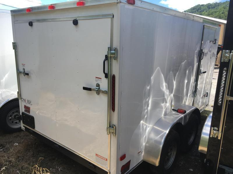 2020 Cynergy 7x12 tandem vnose sd ramp Enclosed Cargo Trailer