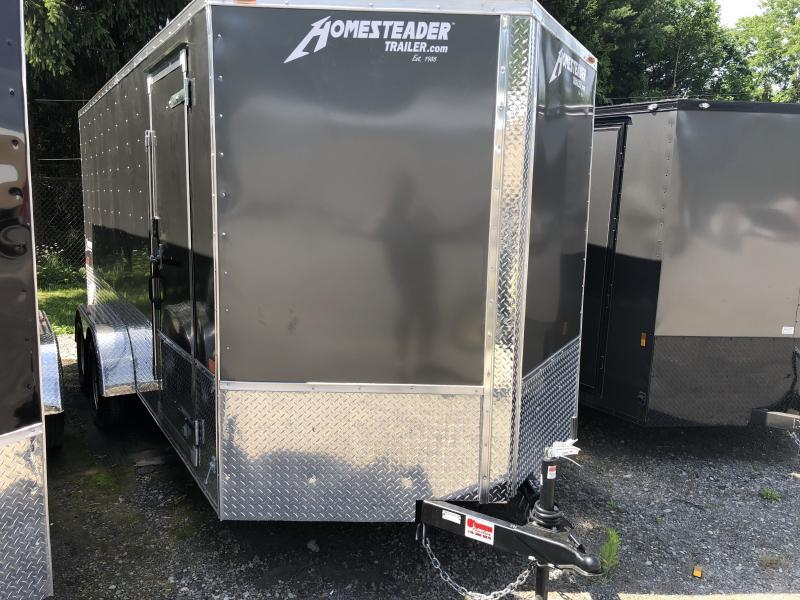 2020 Homesteader 7x16 Intrepid motorcycle deluxe 6in extra height sd ramp Enclosed Cargo Trailer