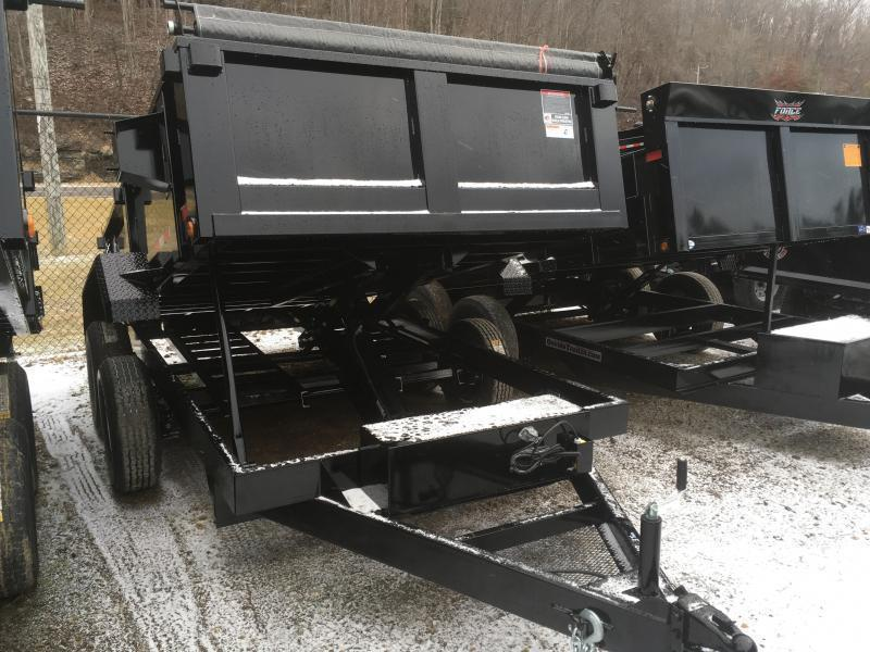 2018 Hawke Trailers 6X12 5TON Low Profile WITH TARP AND RAMPS Dump Trailer
