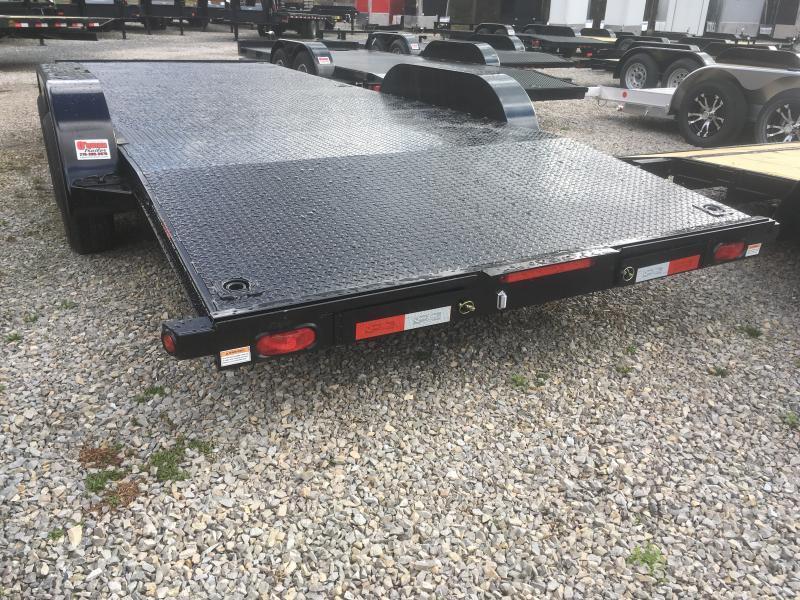 2019 Quality Trailers 82x20 steel car hauler left removable fender 4brk Car / Racing Trailer